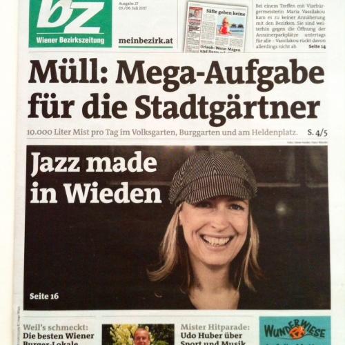 Wiener Bezirkszeitung - Titelblatt